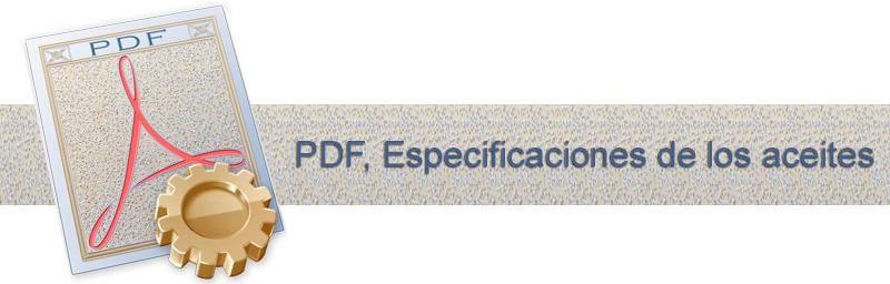 PDF, Especificaciones de los aceites.